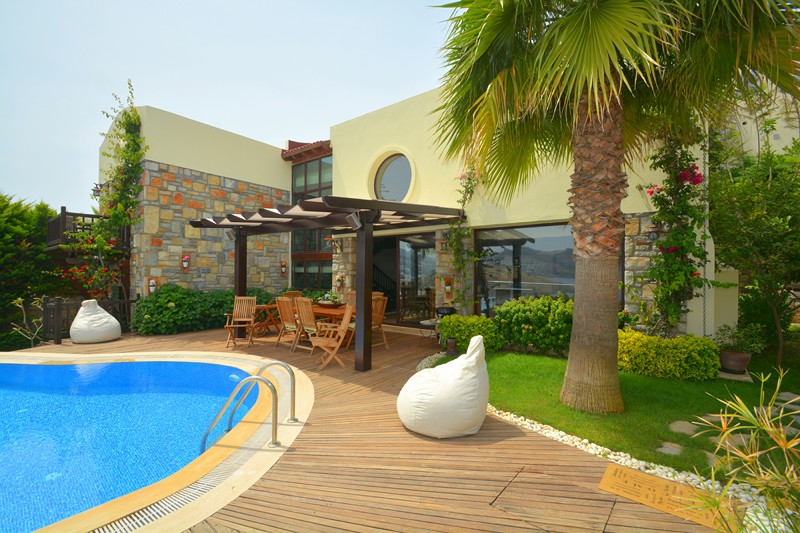 sea front villa in bodrum
